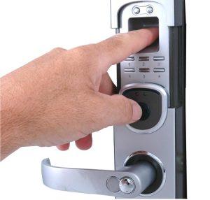 cerradura de huella digital reloj checador de huella digital lector de huella digital